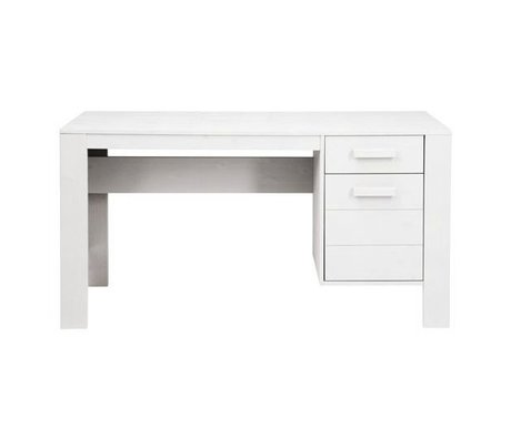 LEF collections Children's Bureau 'Robin' white brushed pine 140x59x74cm