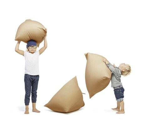 Terapy Kinderzitzak Sydney pyramide zand/bruin katoen 60x60x60cm 130liter