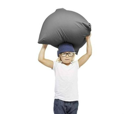 Terapy Children Beanbag Sydney pyramid dark gray cotton 60x60x60cm 130liter