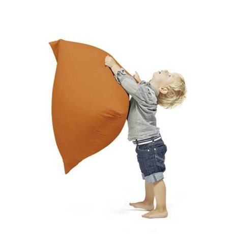 Terapy Children Beanbag Sydney pyramid orange cotton 60x60x60cm 130liter