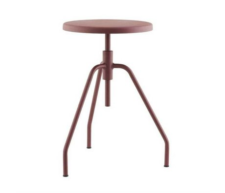 Housedoctor Children Stool SCARPA red metal 32x50cm