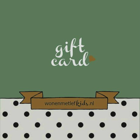 LEF collections wonenmetlefkids.nl gift voucher € 50