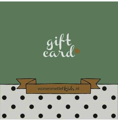Gift card wonenmetlefkids.nl