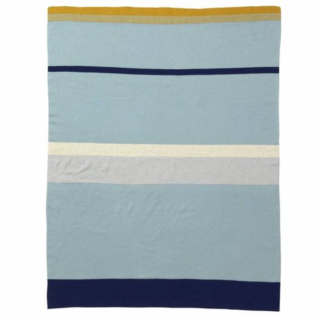 Ferm Living kids Little Baby Blanket Stripe blue cotton 80x100cm