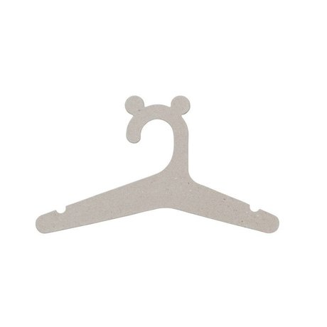 Ferm Living kids Clothing hanger kids natural cardboard set of 5 30x16,4cm