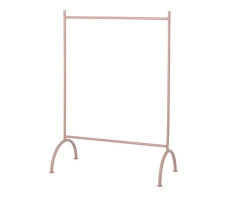 Ferm Living kids Children's clothing rack kids dusty pink metal 88x44x122,5cm