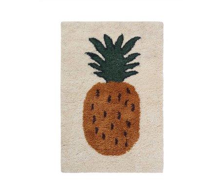 Ferm Living kids Vloerkleed ananas Fruiticana multicolor textiel S 120x80cm