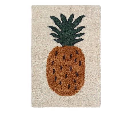 Ferm Living kids Vloerkleed ananas Fruiticana multicolor textiel L 180x120cm