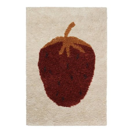 Ferm Living kids Rug Fruiticana Strawberry multicolor textile L 180x120cm