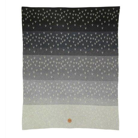 Ferm Living kids Children's blanket Little Gradi gray cotton 80x100cm