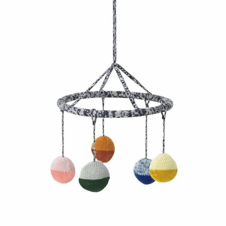 Ferm Living kids Mobiel Ball multicolor katoen ø18cm