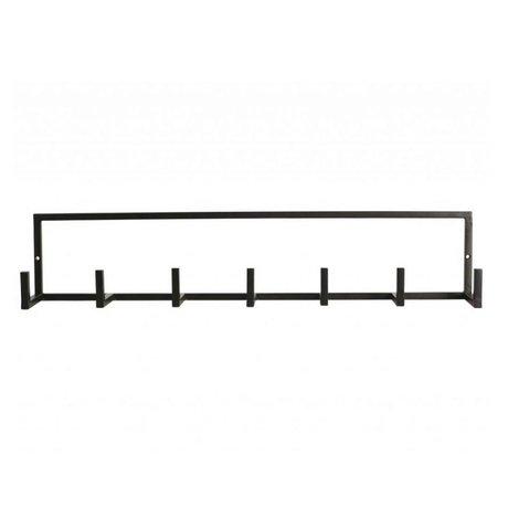 """Housedoctor Children's Coat Rack """"Rack 'black metal 60x8,2x12cm"""