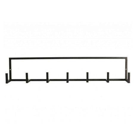 Housedoctor Kinderkapstok 'Rack' metaal zwart 60x8,2x12cm