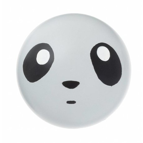 Ferm Living kids Kids Wall Hook 'Panda hook' gray wood Ø5cm