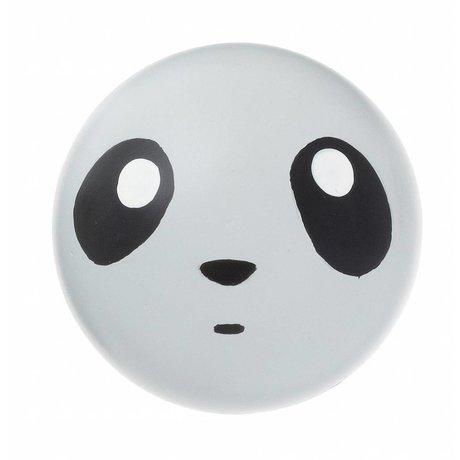 Ferm Living kids Kinderwandhaakje 'Panda hook' grijs hout ø5cm