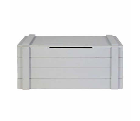 LEF collections Child Pointing Mountain Casket Dennis concrete gray brushed pine 42x90x42cm