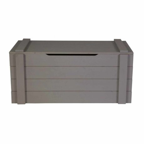 LEF collections Child Pointing Mountain Casket Dennis steel gray brushed pine 42x90x42cm
