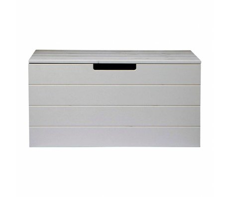 LEF collections Child Pointing Mountain Casket Shack concrete gray brushed pine 42X80X40cm