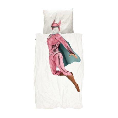 Snurk Beddengoed Children's duvet cover Superhero pink 140x200 / 220cm
