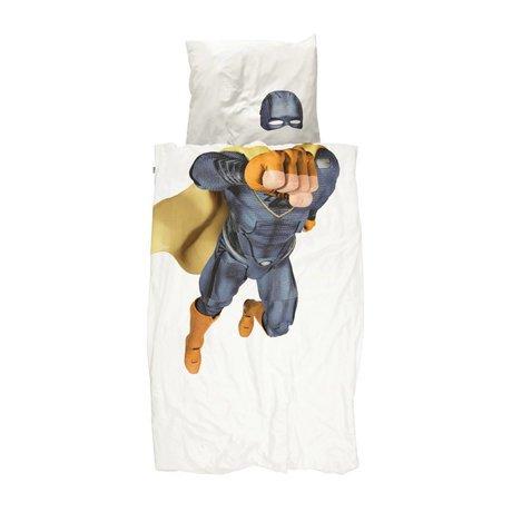 Snurk Beddengoed Kinderdekbedovertrek Superhero blauw 140x200/220cm