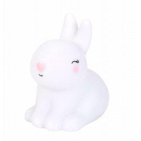 A Little Lovely Company Children's light rabbit Bunny white pink 8x13x13cm