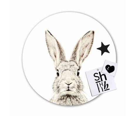 Groovy Magnets Kindermagneetsticker konijn zelfklevend vinyl met ijzerdeeltjes 60cm