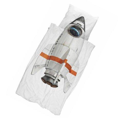 Snurk Beddengoed Kinderdekbedovertrek Rocket 140x200/220 incl kussensloop 60x70cm