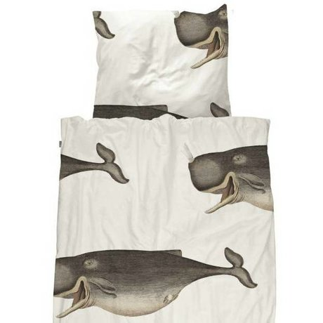 Snurk Beddengoed Kinderdekbedovertrek Whale 140x200/220cm