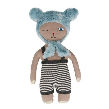 OYOY Hopsi Bear doll multicolour 43x25cm