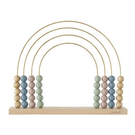 OYOY Kralenrek Abacus Rainbow hout 33x26,5cm