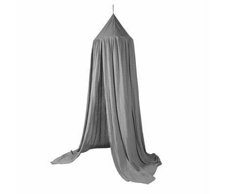 Sebra Bedhemeltje gray cotton ø52cmx240cm
