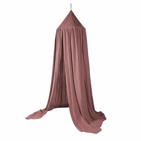Sebra Sebra bedside blanket Midnight Plum pink cotton 240x52cm