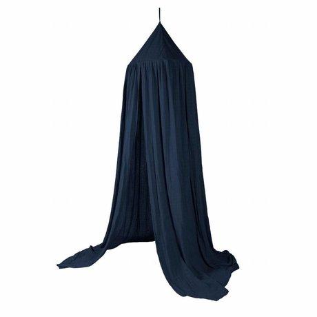 Sebra Bed cover Royal navy blue cotton 240x52cm
