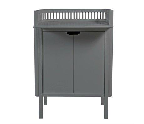 Sebra Commode donker grijs hout 68,5x74x102,5cm