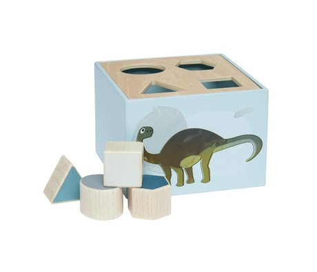 Sebra Shapes puzzle Dino blue wood 14x14x10cm