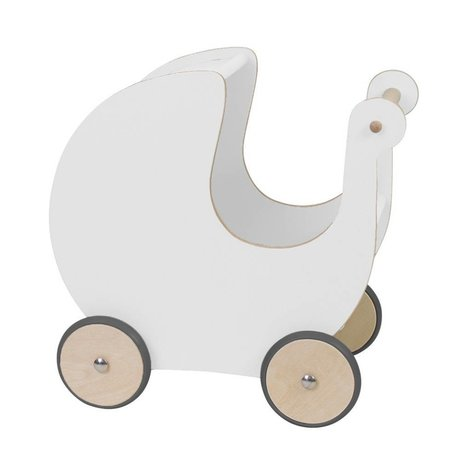 Sebra Doll carriage white wood 45x25x44cm