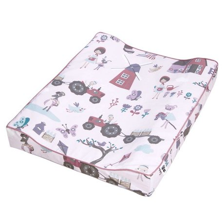 Sebra Changing mat Farm girl pink cotton 64x52x8,5cm