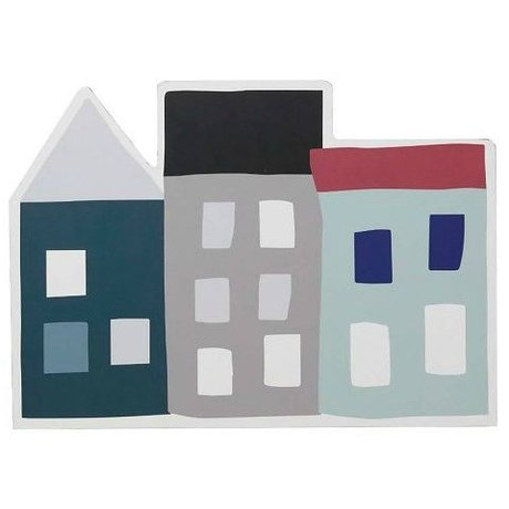 Ferm Living kids Kinderplacemat Seaside multicolour MDF kurk 43x30cm