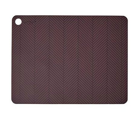 OYOY Kids Placemats set of two burgundy silicone 45x34x0,15cm