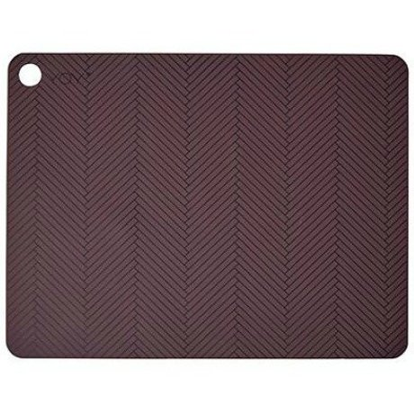 OYOY Kinderplacemat set van twee bordeaux rood silicone 45x34x0,15cm