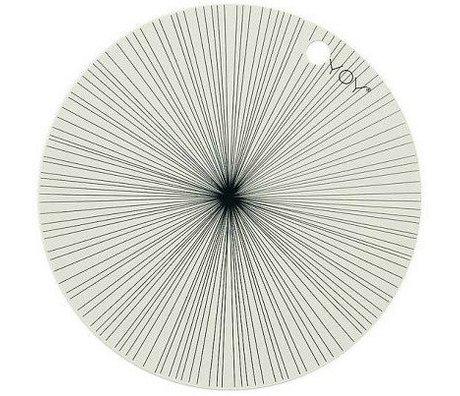 OYOY Kinderplacemat gebroken wit zwart sillecone set van twee 39x0,15cm