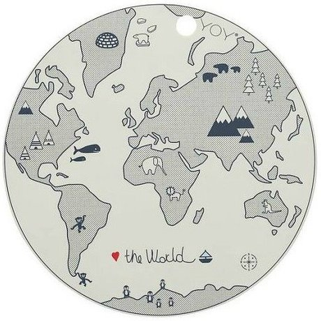 OYOY Kids Placemats the world gray silicone 39x0,15cm