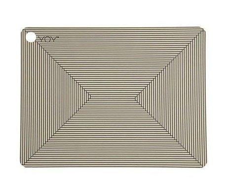 OYOY Kids Placemats CLAY brown black Silicone set two 45x34x0,15cm