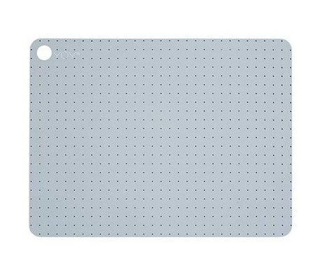 OYOY Kids Placemats PALE BLUE GREY silicone set of two 45x34x0,15cm