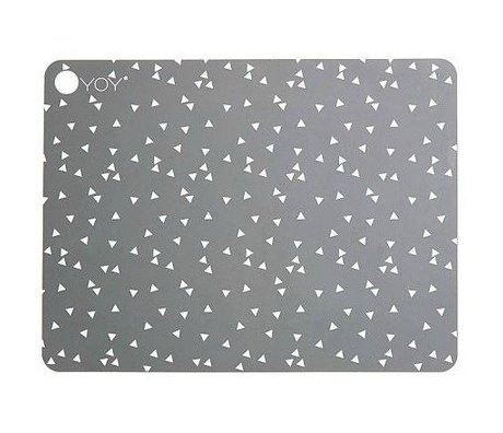 OYOY Kids Placemats LIGHT GREY gray silicone set of two 45x34x0,15cm