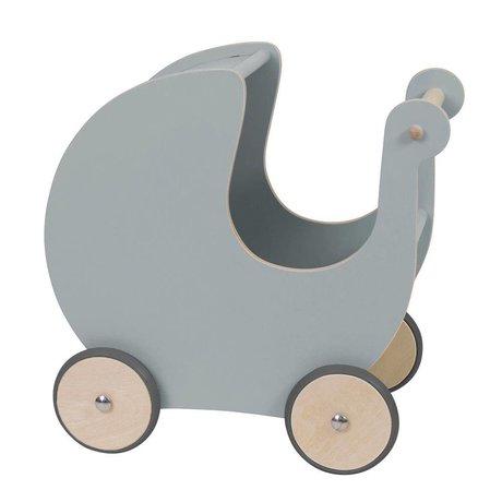 Sebra Poppenwagen grijs hout 45x25x44cm