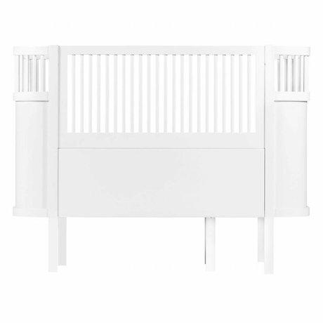 Sebra Baby cot white wood 112,5x70x88cm