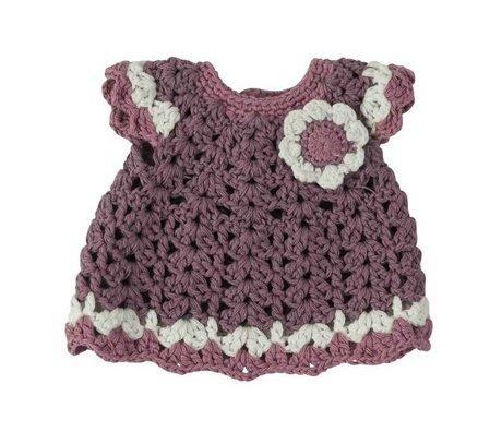 Sebra Poppy dress purple purple cotton 30cm