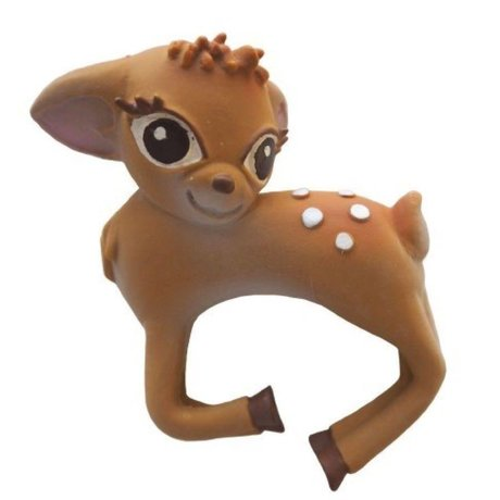 Oli & Carol Bath toy and bite toy bracelet bambi natural rubber 8x10cm