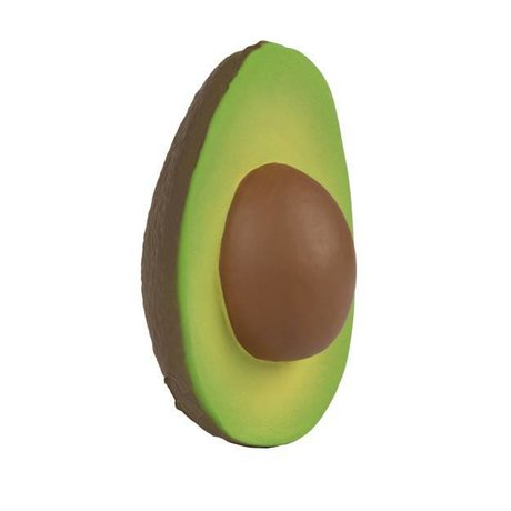 Oli & Carol Bath toy and bite toy avocado Arnold green brown natural rubber8x10cm